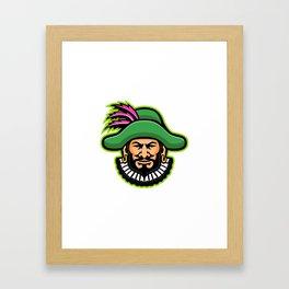 Minstrel Mascot Framed Art Print