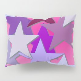 Purple Stars, Many Stars, Star Bright Pillow Sham