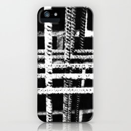 Rebar And Brick - Industrial Abstract iPhone Case