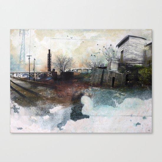 In A Fog Canvas Print
