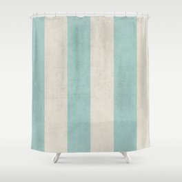 vintage robins egg blue stripes Shower Curtain