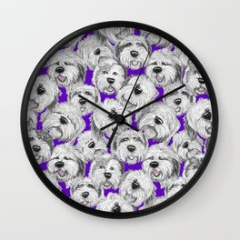 Shaggy pups Wall Clock