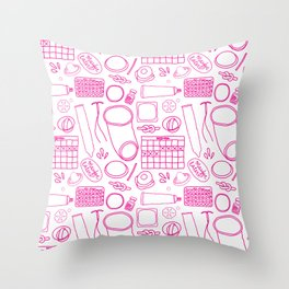Birth Control Pattern Throw Pillow