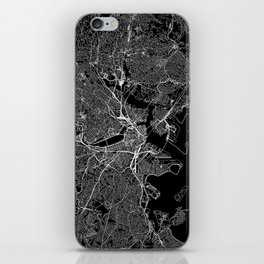 Boston Black Map iPhone Skin
