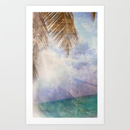 Caves & Palms Art Print