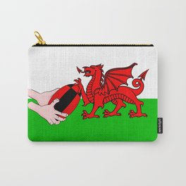 Wales Rugby Flag Carry-All Pouch