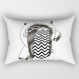 Trippy Jesus B&W Rectangular Pillow