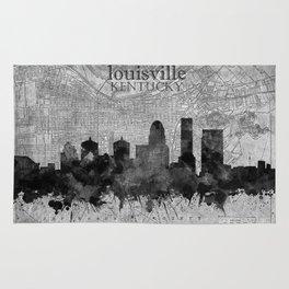 louisville skyline vintage 3 Rug