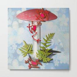 Redfrog And The Magic Mushroom Metal Print