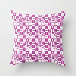 Contraception Pattern (Purple) Throw Pillow