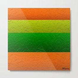 Orange Lime and Green Passion Metal Print