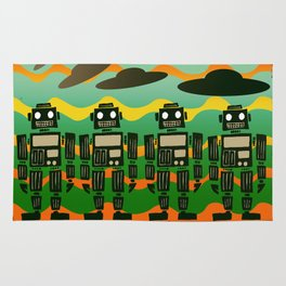 Robot On Parade Rug