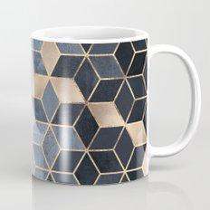 Soft Blue Gradient Cubes Mug
