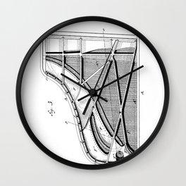 Steinway Piano Patent - Piano Player Art - Black And White Wall Clock