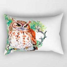 Your Best Friend Owl, woodland Owl art,, children illustration of OWL Rectangular Pillow