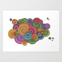 Circle Drawing Meditation Art Print