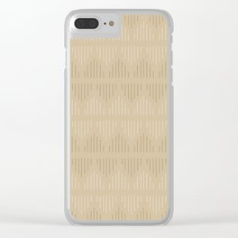 Minimalist Mudcloth 3 in Tans Clear iPhone Case