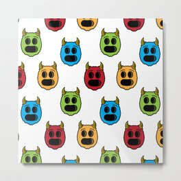 Monster Pattern Metal Print