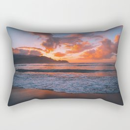 Tropical Hawaiian Beach Sunset Rectangular Pillow