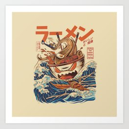 Great Ramen off Kanagawa Art Print