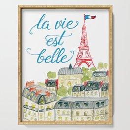 La Vie Est Belle Paris Serving Tray