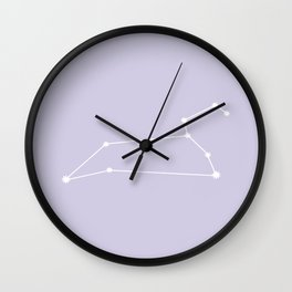 Leo Zodiac Constellation - Lavender Wall Clock