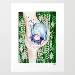 Sleep my little child Art Print
