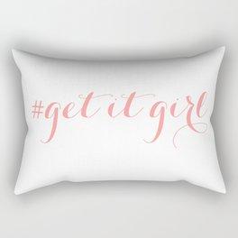 # Get It Girl // Peony Rectangular Pillow