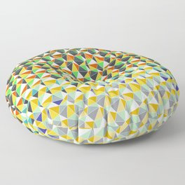 Abstract hexagonal Floor Pillow