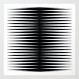 op art - horizontal triangles Art Print
