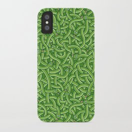 Little Green Snakes iPhone Case