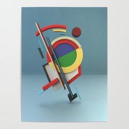 Constructivism & Suprematism in the style of Ivan Kliun (1 of 9) Poster
