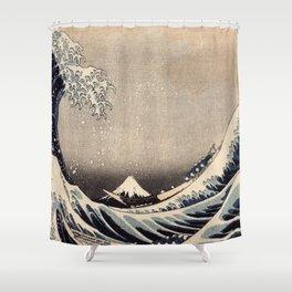 Hokusai the wave 1-hokusai,manga,fugi,japan,kanagawa,wave,edo,mount fuji Shower Curtain
