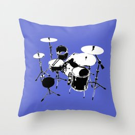 Drumkit Silhouette (backview) Throw Pillow