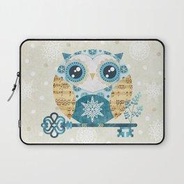 Winter Wonderland Owl Laptop Sleeve