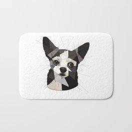Black Chihuahua Bath Mat