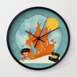 Surfer Sailor Boy Beach Pirate Wall Clock