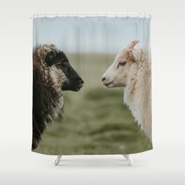Sheeply in Love - Animal Photography from Iceland Shower Curtain