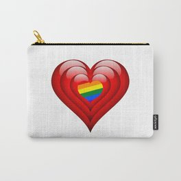 LGBT Valentine's Day Heart Carry-All Pouch