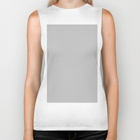 silver Biker Tanks featuring Silver by List of colors