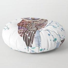 lacy owl Floor Pillow