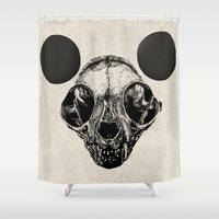 sphynx Shower Curtains featuring Sphynx Mickey by Sphynx Collective