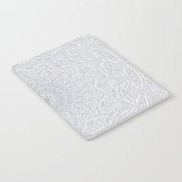 Most Detailed Mandala! Cool Gray White Color Intricate Detail Ethnic Mandalas Zentangle Maze Pattern Notebook