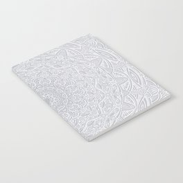 Most Detailed Mandala! Cool Gray White Color Intricate Detail Ethnic Mandalas Zentangle Maze Pattern Notebook