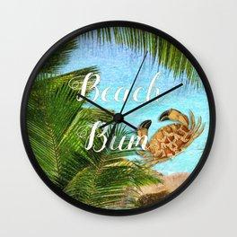 Beach Bum Summer Fun Wall Clock