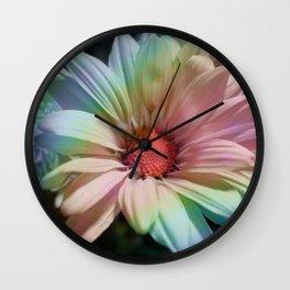 Rainbow Bouquet Wall Clock