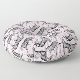 Tigers (Pink and White) Floor Pillow