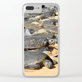 Sunbathing Clear iPhone Case