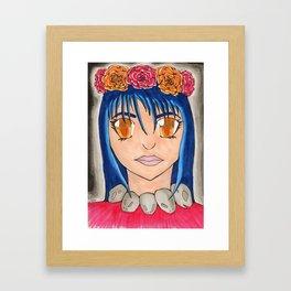 Flower Maiden Framed Art Print