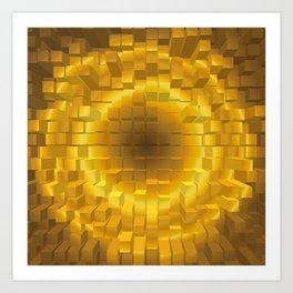 Abstract golden gradient texture. Art Print